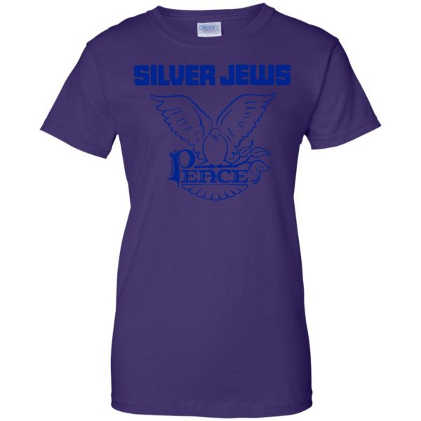 silver jews womens t shirt - lady t shirt - purple