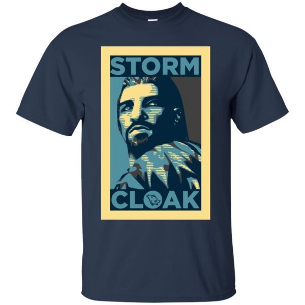 stormcloak t shirt - navy blue