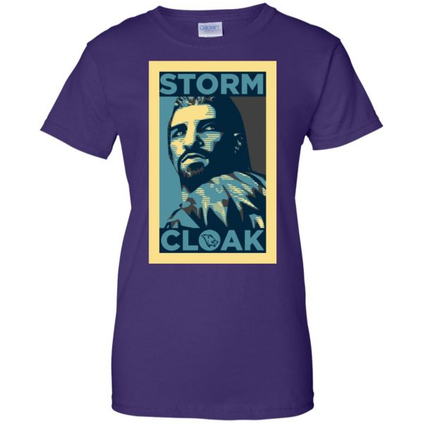stormcloak womens t shirt - lady t shirt - purple