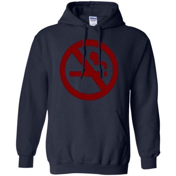 marceline no smoking hoodie - navy blue
