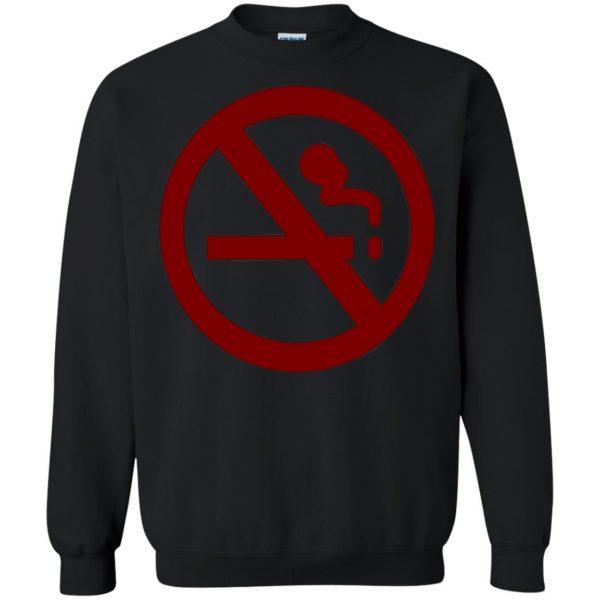 marceline no smoking sweatshirt - black