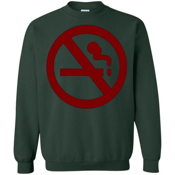 marceline no smoking sweatshirt - forest green