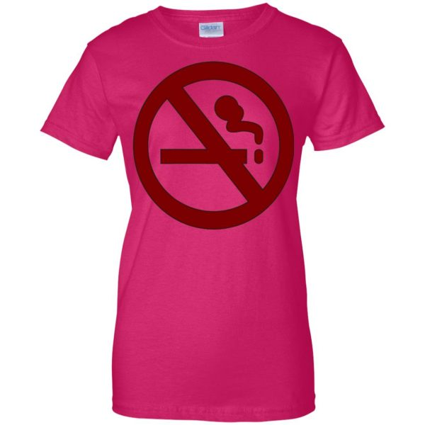 marceline no smoking womens t shirt - lady t shirt - pink heliconia