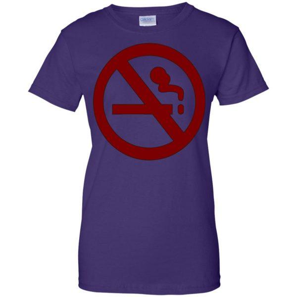 marceline no smoking womens t shirt - lady t shirt - purple