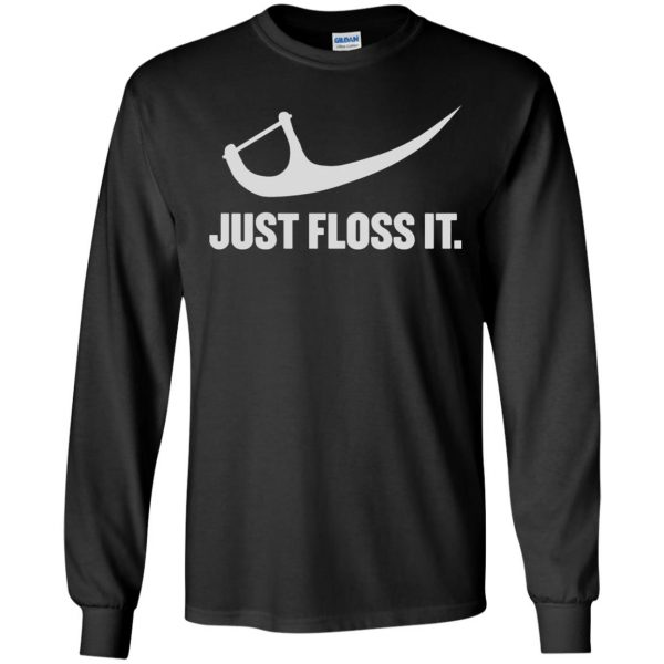 just do it floss long sleeve - black