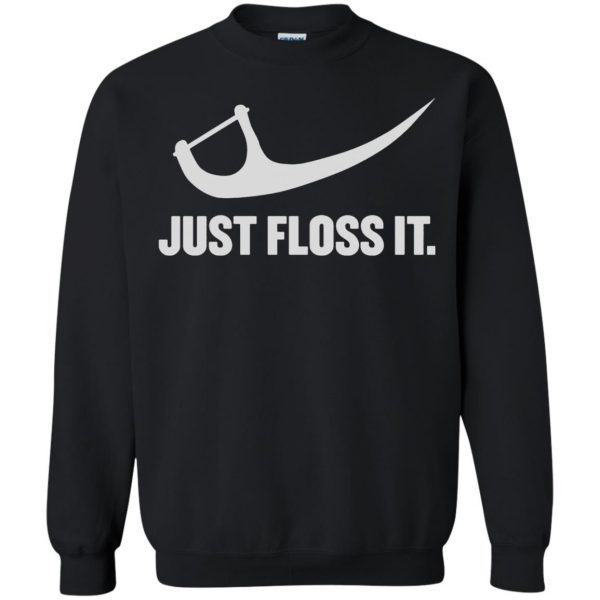 just do it floss sweatshirt - black