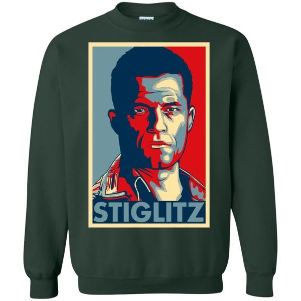 hugo stiglitz sweatshirt - forest green
