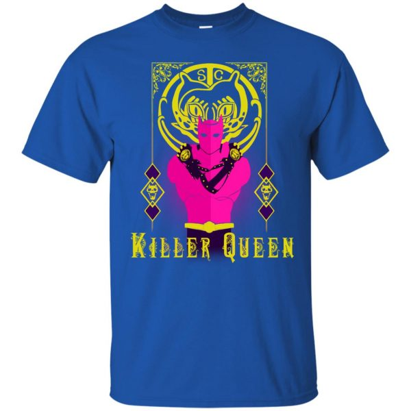killer queen jojo t shirt - royal blue