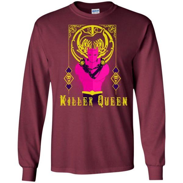 killer queen jojo long sleeve - maroon