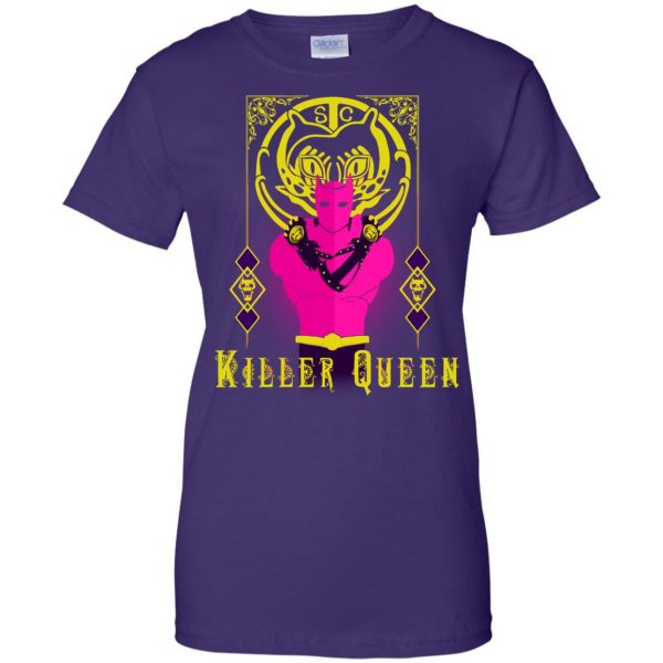 killer queen jojo womens t shirt - lady t shirt - purple