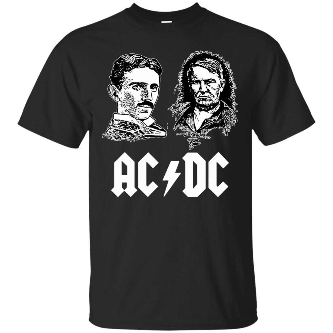 Ac Dc Tesla Edison Tshirt Black