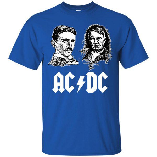 ac dc tesla edison t shirt - royal blue