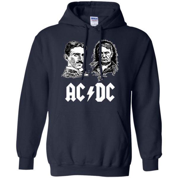 ac dc tesla edison hoodie - navy blue