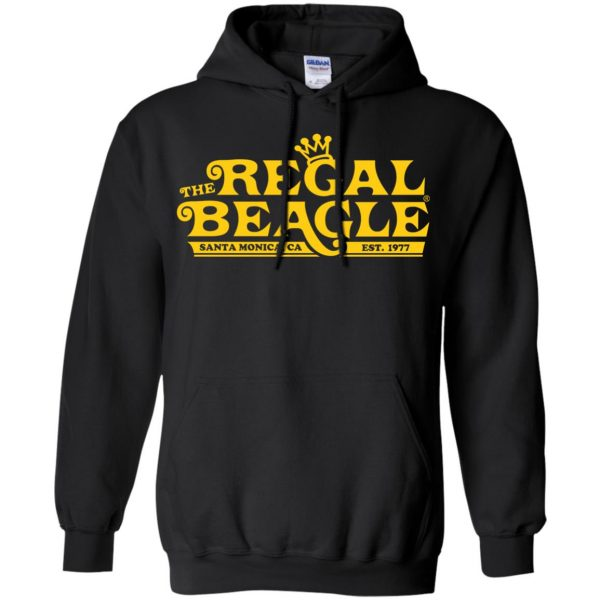 regal beagle hoodie - black
