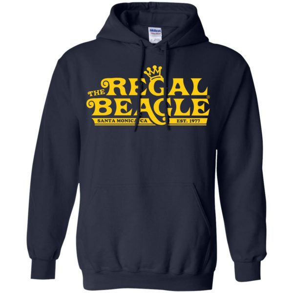 regal beagle hoodie - navy blue
