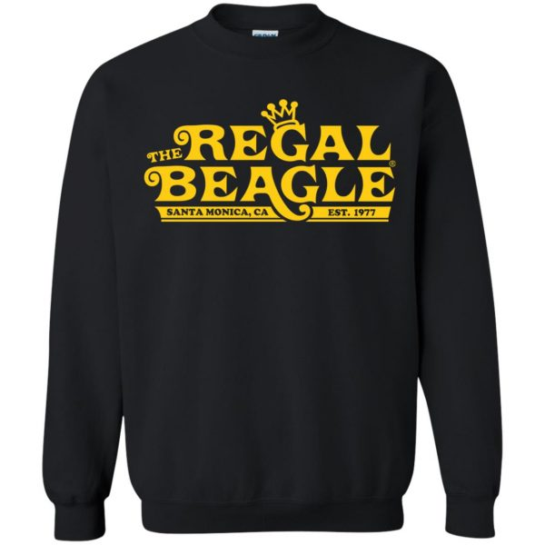 regal beagle sweatshirt - black