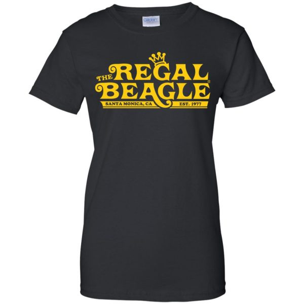 regal beagle womens t shirt - lady t shirt - black