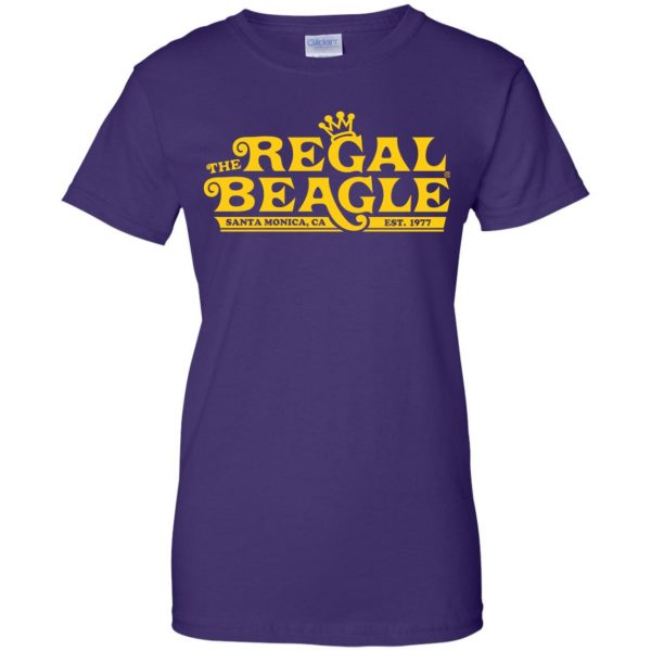 regal beagle womens t shirt - lady t shirt - purple