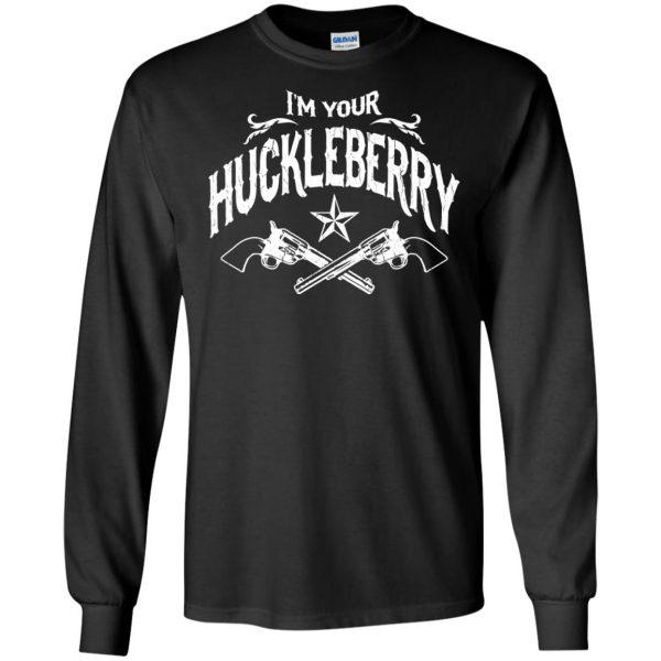 i'm your huckleberry long sleeve - black