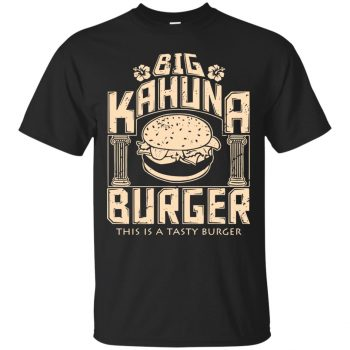 big kahuna burger shirt - black