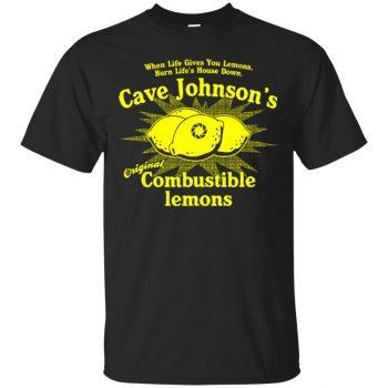 cave johnson lemon shirt - black