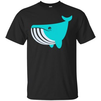 whale emoji shirt - black