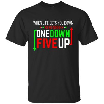 One Down Five Up T-shirt - black