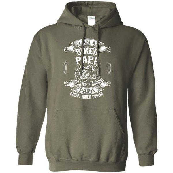 I'm A Biker Papa hoodie - military green