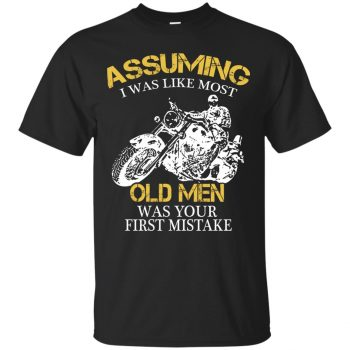 A Motorcycle Old Man T-shirt - black