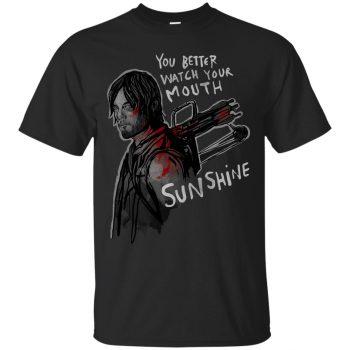 You Better Watch Your Mouth, Sunshine T-shirt - black