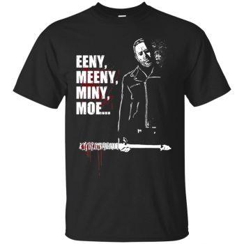Eeny, Meeny, Miny, Moe T-shirt - black