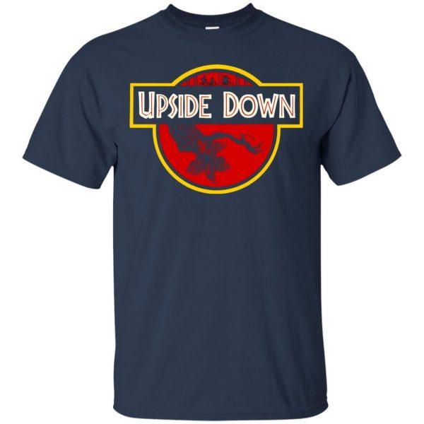 Upside Down t shirt - navy blue
