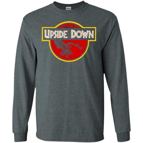 Upside Down long sleeve - dark heather
