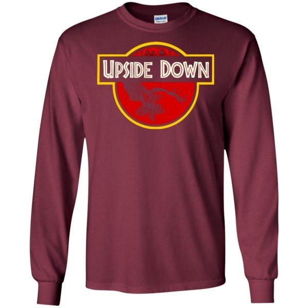 Upside Down long sleeve - maroon