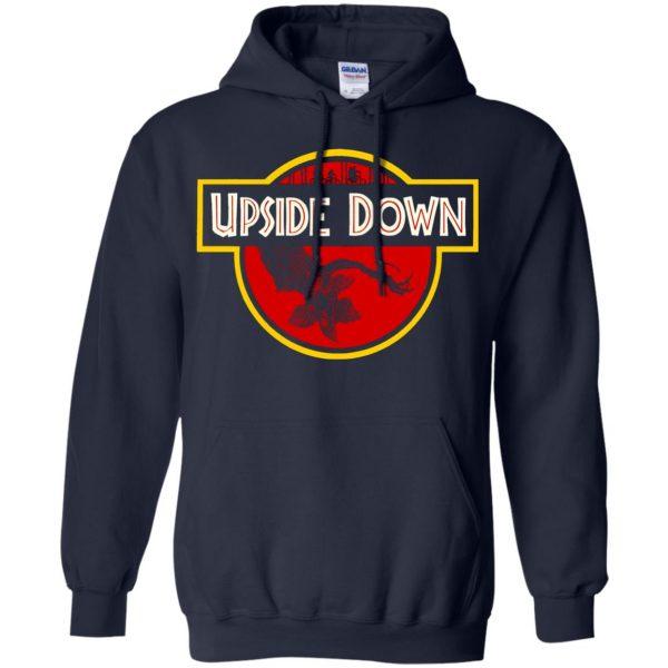 Upside Down hoodie - navy blue