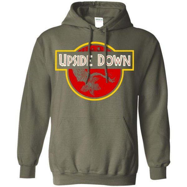 Upside Down hoodie - military green