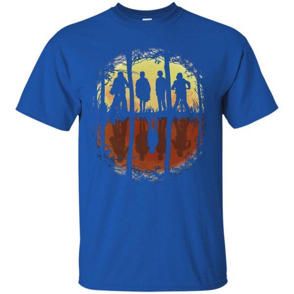 Stranger Friends t shirt - royal blue