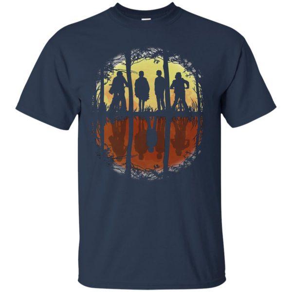 Stranger Friends t shirt - navy blue