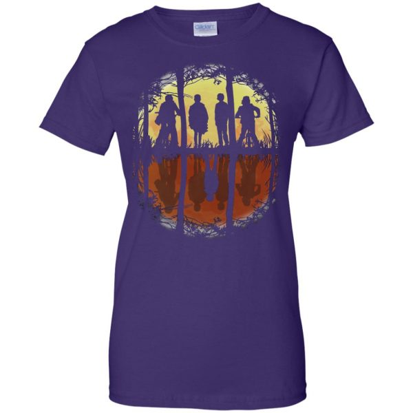 Stranger Friends womens t shirt - lady t shirt - purple