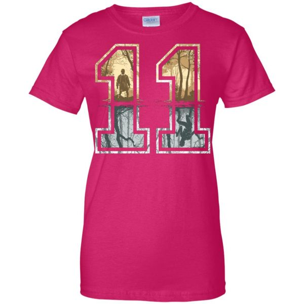 Eleven womens t shirt - lady t shirt - pink heliconia