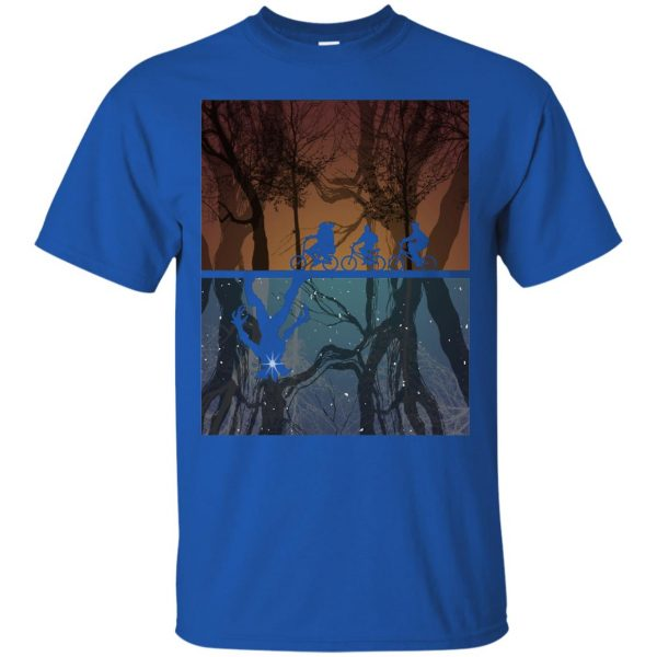 Stranger Forest t shirt - royal blue