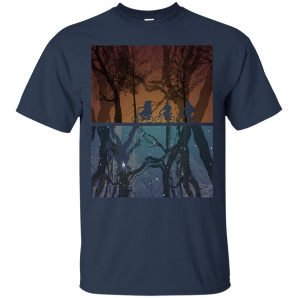 Stranger Forest t shirt - navy blue