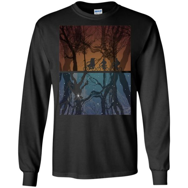 Stranger Forest long sleeve - black