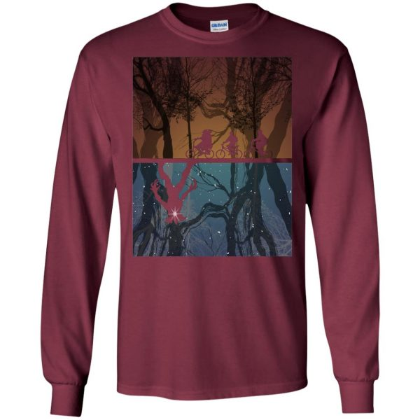 Stranger Forest long sleeve - maroon