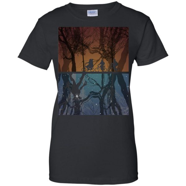 Stranger Forest womens t shirt - lady t shirt - black