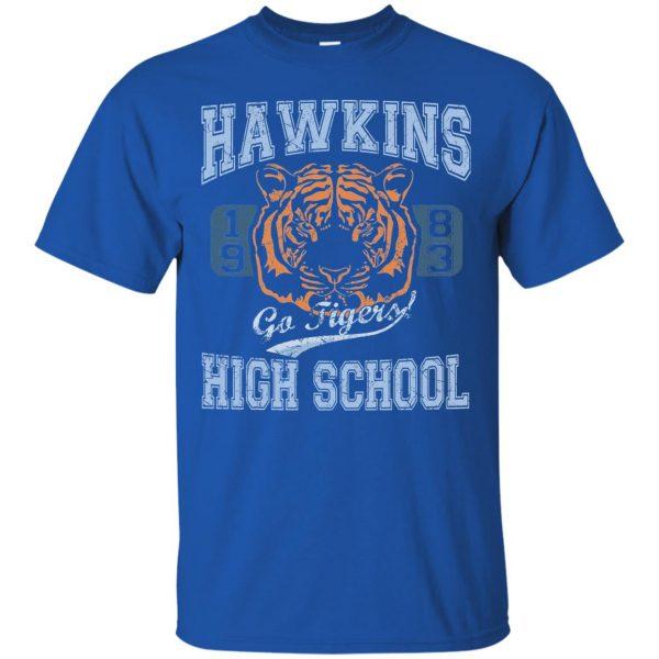 Hawkins High School t shirt - royal blue
