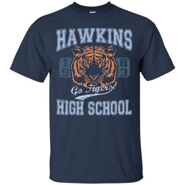 Hawkins High School t shirt - navy blue
