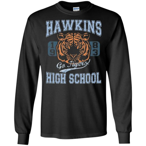 Hawkins High School long sleeve - black