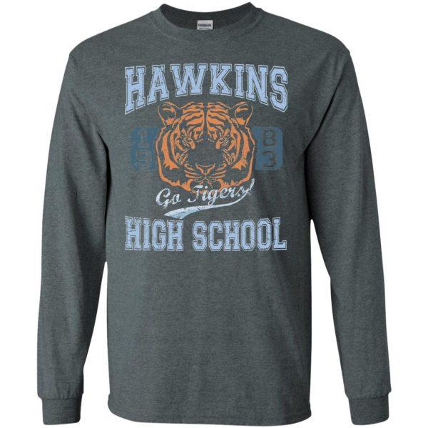 Hawkins High School long sleeve - dark heather