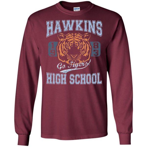 Hawkins High School long sleeve - maroon
